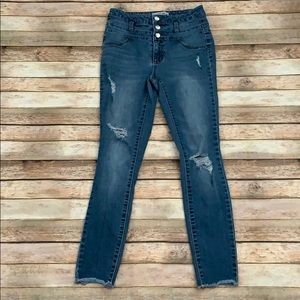 Refuge High Waisted Distressed Jeans